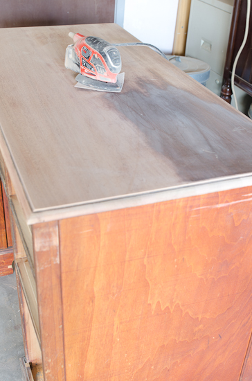Vintage Desk Wood Top Sanded